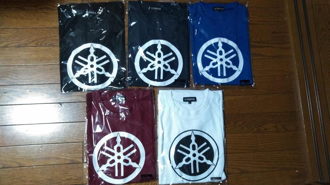 ヤマハTシャツ 5色